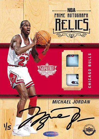 2017-18 Upper Deck Authenticated Supreme Hard Court Michael Jordan Autograph