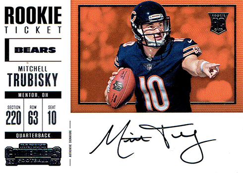 2017 Panini Contenders Football Mitchell Trubisky Variation SSP