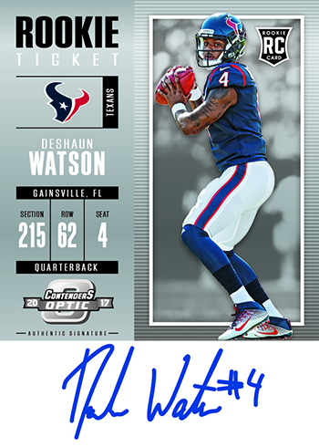 2017 Panini Contenders Optic Football Deshaun Watson Autograph