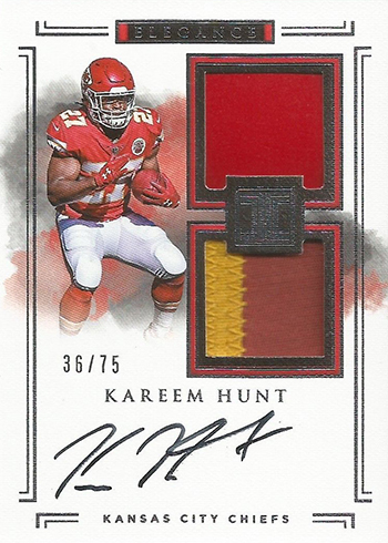 2017 Panini Impeccable Kareem Hunt RC