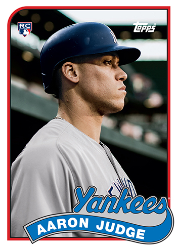 2017 Topps Transcendent Party Aaron Judge Topps History 1989
