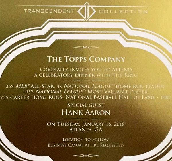 2017 Topps Transcendent Party Invitation