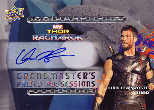 2017 Upper Deck Thor Ragnarok Grandmasters Prized Possessions GP-1 Chris Hemsworth
