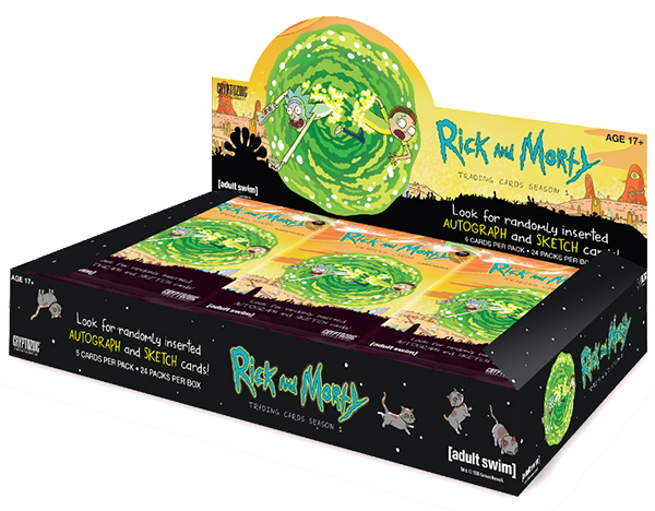 2018 Cryptozoic Rick and Morty Season 1 Trading Cards Box