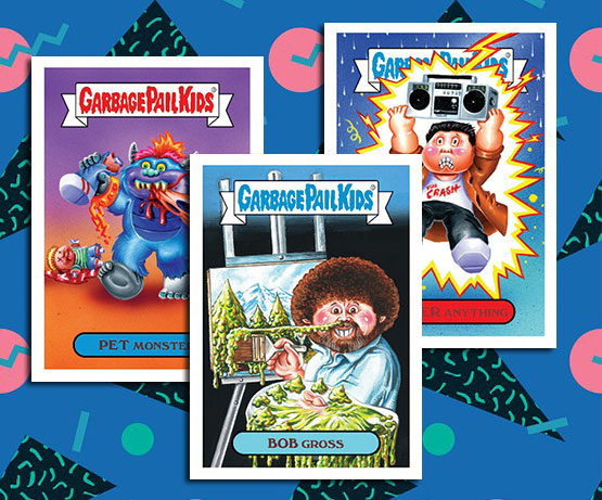 4ada8b0b543 Pop culture has been infused with Garbage Pail Kids from the earliest days.  However