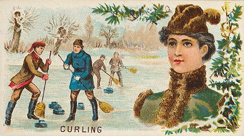 1889 Goodwin N165 Curling