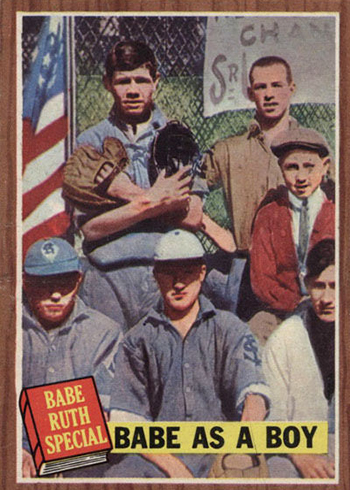 1962 Topps 135 Babe Ruth Babe As a Boy