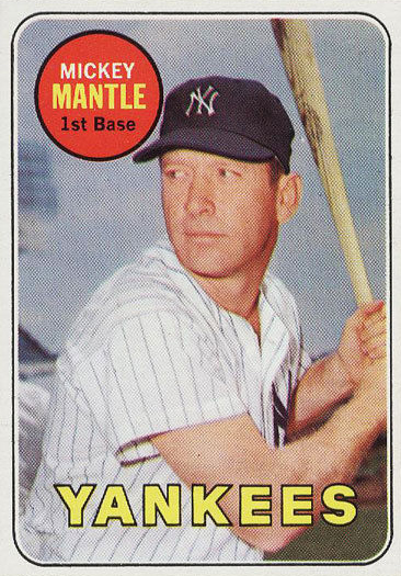 1969 Topps Baseball Mickey Mantle