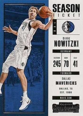 2017-18 Panini Contenders Basketball Dirk Nowitzki