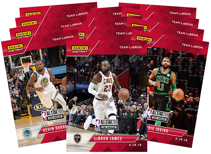 2017-18 Panini Instant Basketball All-Star Team LeBron