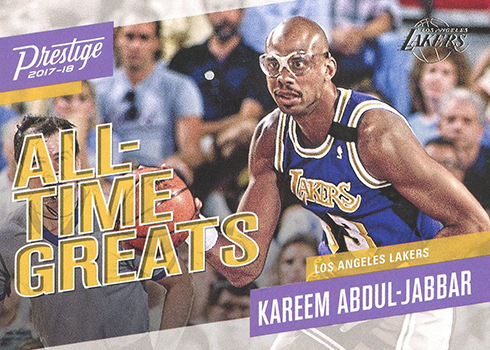 2017-18 Panini Prestige Basketball All-Time Greats Kareem Abdul-Jabbar