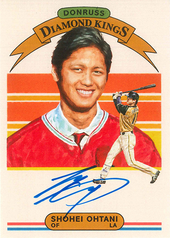 2018 Donruss Diamond Kings Autograph Shohei Ohtani
