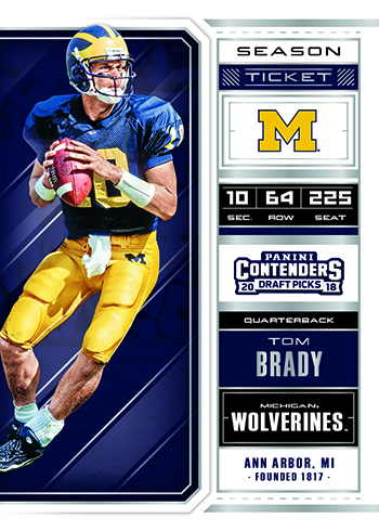 2018 Panini Contenders Draft Picks Football Season Ticket