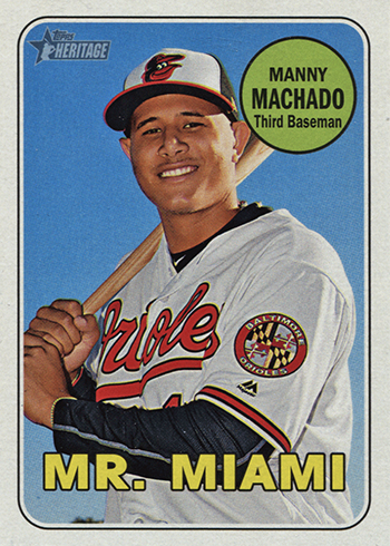 2018 Topps Heritage Nickname Variations 151 Manny Machado