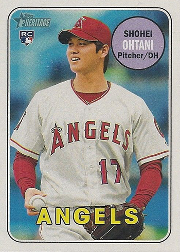 2018 Topps Heritage Shohei Ohtani Action Image Variation