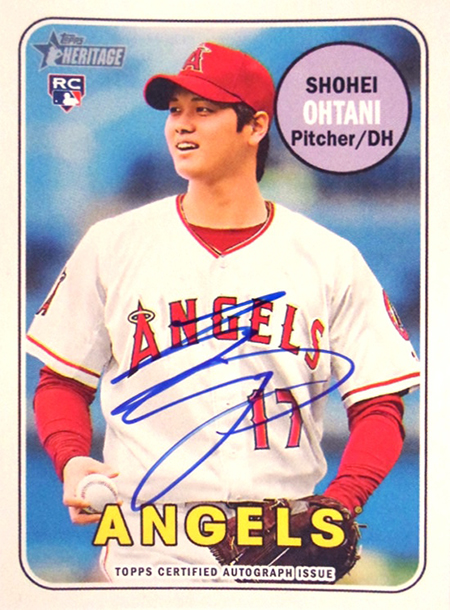 2018 TOPPS NOW # RC-7J SHOHEI OHTANI TOPPS MLB ROOKIE ALL-STAR TEAM