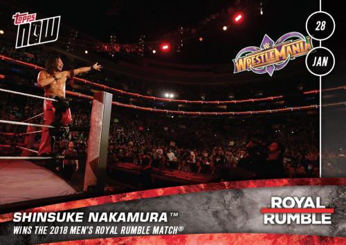 2018 Topps Now WWE 2 Shinsuke Nakamura