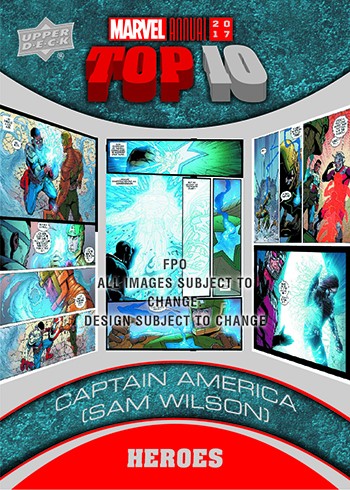 2018 Upper Deck Marvel Annual Top 10
