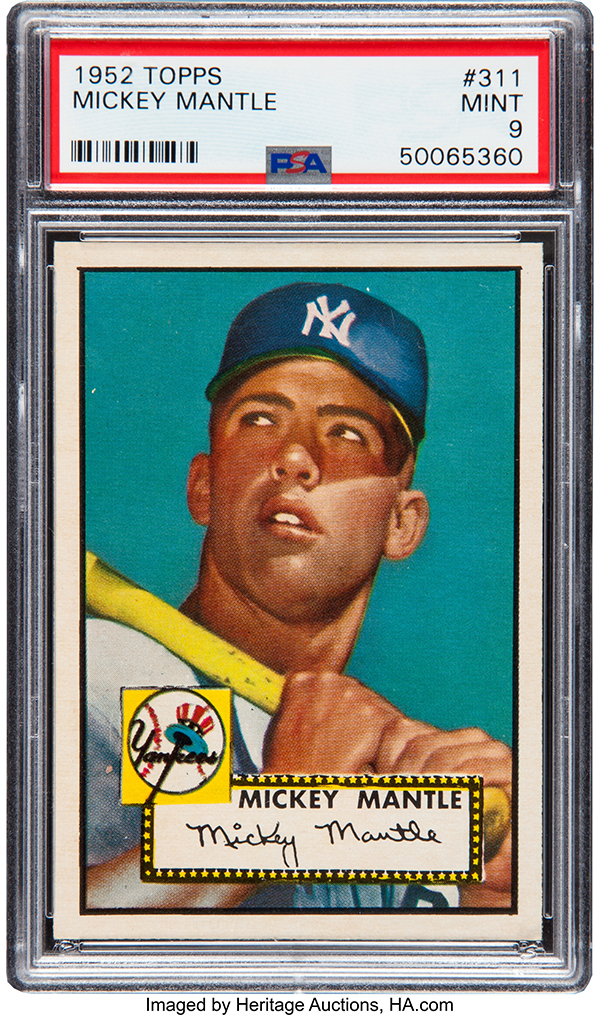 1952 Topps Mickey Mantle PSA 9 Heritage Auctions Apr-2018