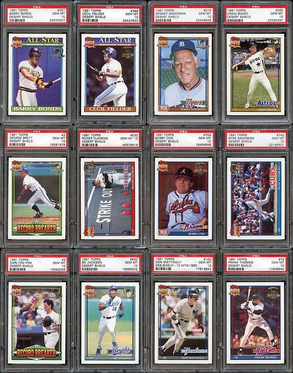 1991 Topps Desert Shield Baseball Set Tops 100000