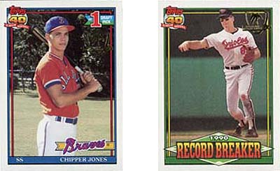 1991 Topps Desert Shield Baseball Set Tops 100000