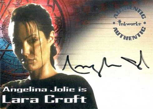 2001 Inkworks Lara Croft Tomb Raider Autographs Angelina Jolie A1