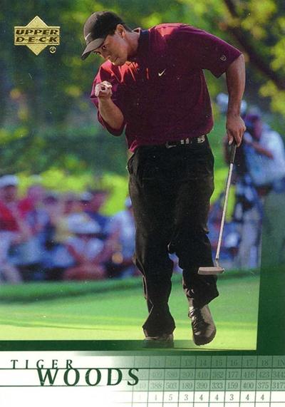 The Daily 2001 Upper Deck Golf Tiger Woods Rc Beckett News