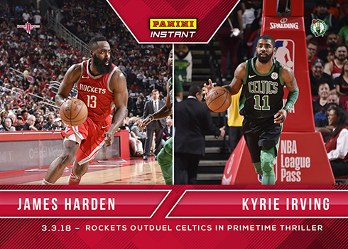 82b95cccb95c 2017-18 Panini Instant Basketball 105 James Harden Kyrie Irving ...