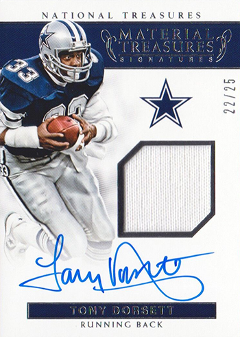 brand new 7235b 29369 2017 Panini National Treasures Football Material SIgnatures ...