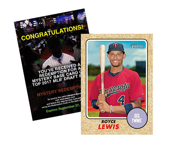 2017 Topps Heritage Minors Mystery Redemption Royce Lewis