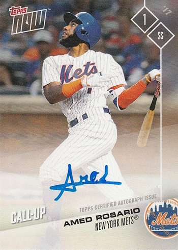 2017 Topps Now Platinum Autograph Amed Rosario