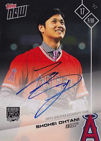 2017 Topps Now Platinum Autograph Shohei Ohtani