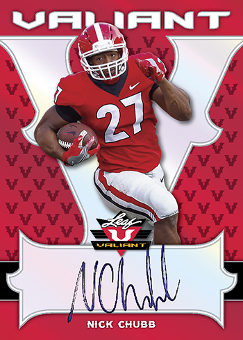 2018 Leaf Valiant Football Nick Chubb Autograph