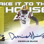2018 Leaf Valiant Football Take It to the House Derrius Guice