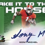 2018 Leaf Valiant Football Take It to the House Sony Michel