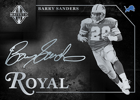 2018 Panini Majestic Football Royal Signatures