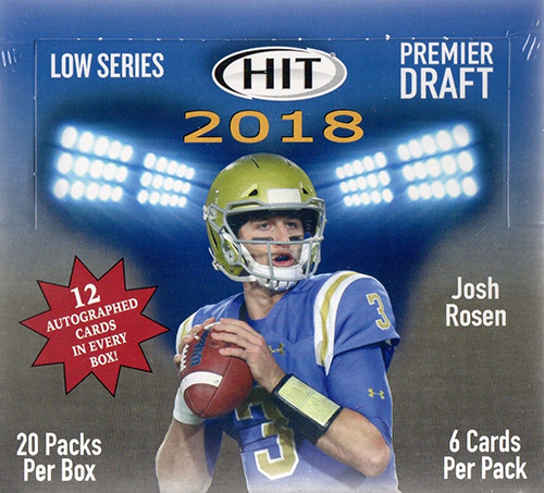 2018 SAGE Hit Premier Draft Football hobby box