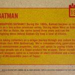 2018 Topps 80th Anniversary Wrapper Art 1 1966 Batman Reverse