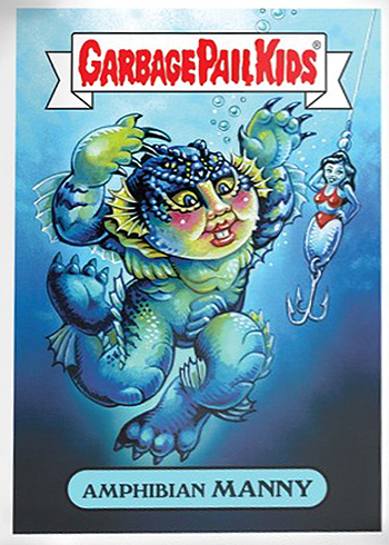2018 Topps GPK Wacky Packages Not-Scars 1 Amphibian Manny