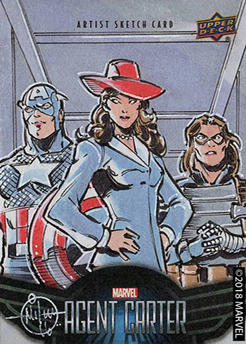 2018 Upper Deck Agent Carter Sketch Card