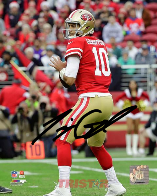 new styles e76ac f32f1 Jimmy Garoppolo Signs Autograph Deal with TRISTAR