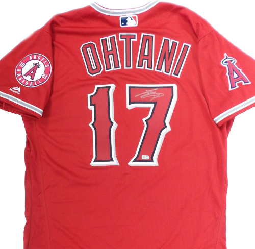 Topps Authentics Shohei Ohtani Signed Jersey Red