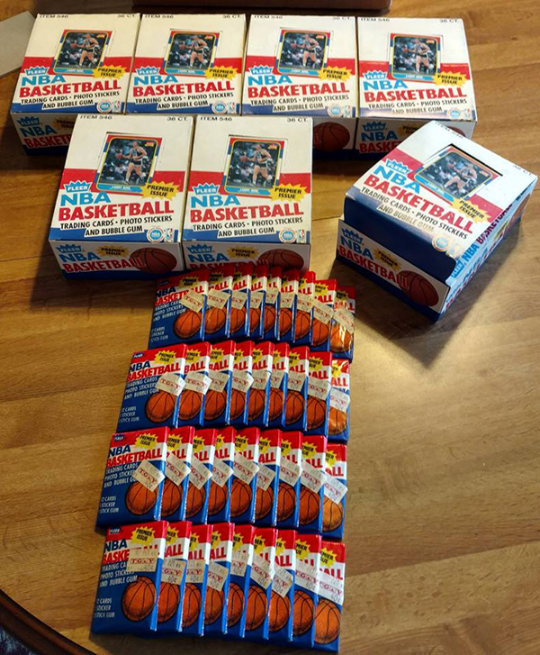 7 1986 87 Fleer Basketball Boxes Discovered By Baseball Card Exchange