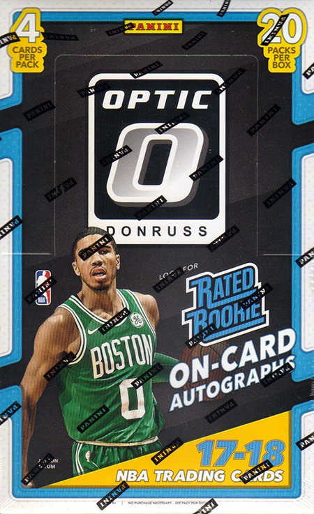 82fcc3d780c7 2017-18 Donruss Optic Basketball Video Box Break and Breakdown