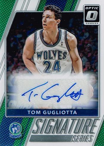 2017-18 Donruss Optic Basketball Signature Series Tom Gugliotta