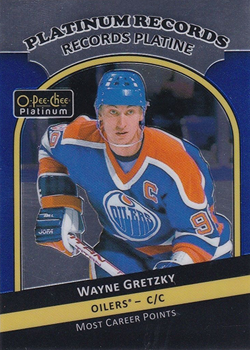 2017-18 O-Pee-Chee Platinum Hockey Platinum Records Waynew Gretzky