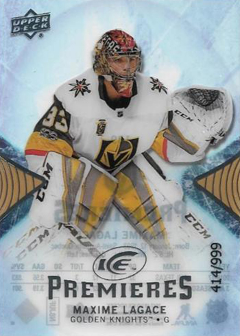 2017-18 Upper Deck Ice Hockey Ice Premieres Maxime Lagace RC