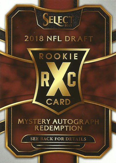 2017 Select Football Mystery Autograph Redemption