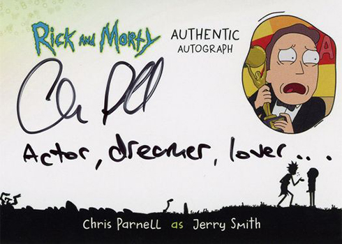 2018 Cryptozoic Rick and Morty Season 1 Autographs Chris Parnell