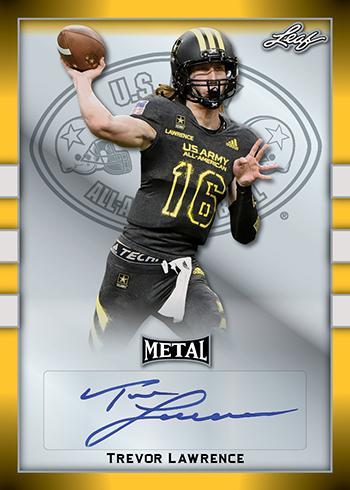 2018 Leaf US Army All American Football Metal Yellow F